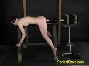 brunette tied, fucked by machin ... free