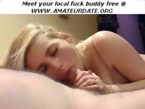 Sweet blonde amateur blowjob or ... free