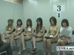Subtitled meeting of Japanese naked orchestra members
