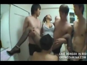 Cute Asian gets multiple loads free