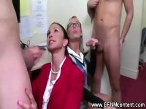 Clothed secretaries love face sitting