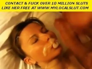 Hot amateur gets a huge creamy  ... free