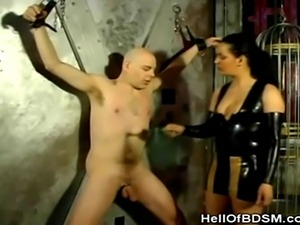 We have this hot bdsm scene involving a mistress and her dominatrix. Watch as...