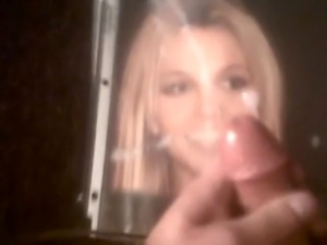 Cum on Britney Spears face
