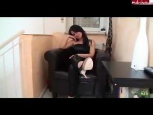 BlowJob Sexy Girl In Black Shin ... free