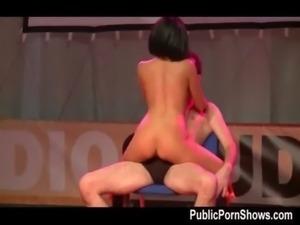Hot  big boobed stripper in bla ... free