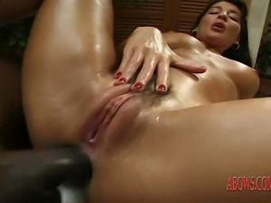 MILF with hairy pussy gave anal sex with black guy