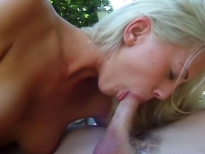 Damn hot blonde skinny squirting girl is having sex with her husband's...