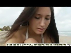 Sasha independent teen babe with natural tits and big ass is public flashing...