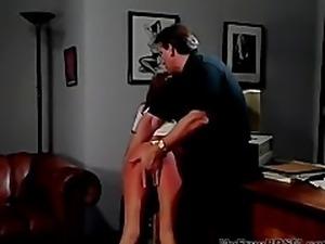Hank Armstrong Plays With Skye Blue's Ass bdsm bondage slave femdom domination