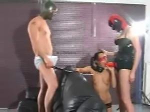 Kinky Latex Blowjob