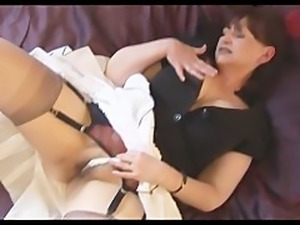 Big tits mature babe with hairy pussy stripping