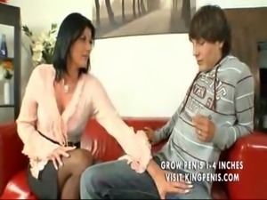 Mature Rich Woman with Young Boy free