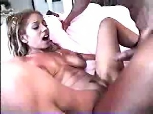 Hot black girl fucked hard in the ass then swallows