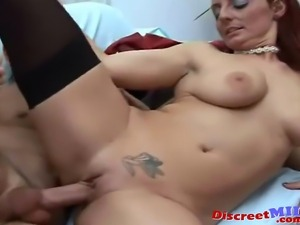 Sexy Italian MILF gets horny from porn magazine and then seducing her friend
