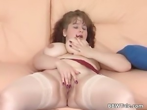 Cute milf pussy dildoing solo action part5