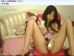 Asian Japanese Taiwan amateur sexy teens Masturbation webcam brunette public...