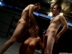Trina Michaels Takes Two Cocks