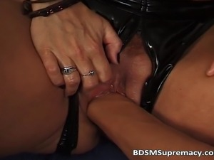Amateur fetish BDSM action with redhead