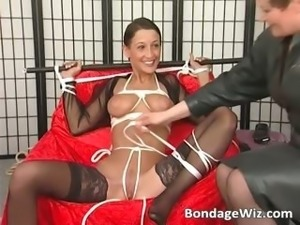 Bondage sex with hot girl and some crazy part4