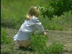 Young Slut Gail - Gets banged by her brother outdoors free