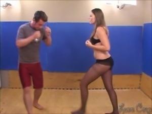 Chloe vs Zach in a sexy fight free