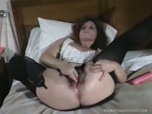 Ass-fucked hairy cunt slut