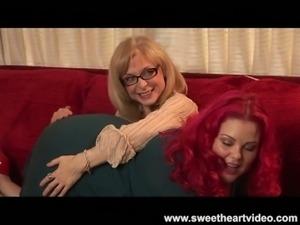 Nina hartley's bbw redhead lez