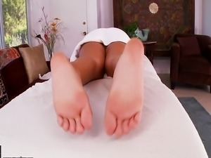 Hot Massage Footjob