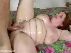 Sexy Redhead Busty BBW Asha Marie