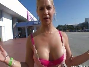 Sarah Vandella in a Bikini flirting in Public
