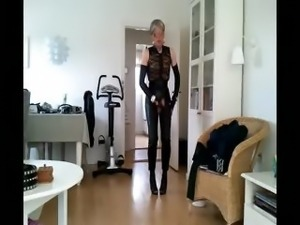 Sissy sexy leather girl 3