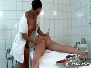 Nasty and sexy doctor gets her cunt part4