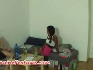 Beautiful ebony at the erotic casting