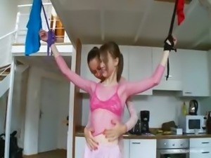 19yo russian chicks playing with toys