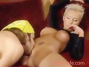 Drop dead Gorgeous Ravaged Blonde Pussy to mouth Riding