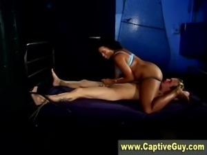 Horny bdsm femdom whore rides dick free