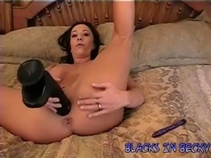 Housewife Becky gets slammed by huge black cock and takes a shot to the face.