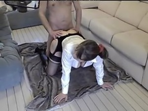 British Milf Pleasured In Black Stockings amp Boots  british euro brit...