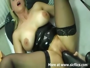 Monster cunt needs a monster black dildo
