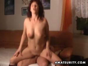 Red head mature slut riding cock