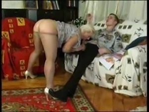 Horny Russian granny seduces man free
