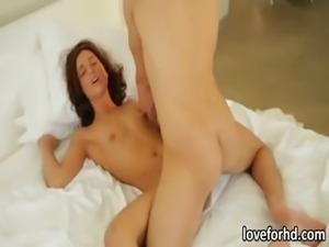 Small tits babe Maryjane Johnson in lustful morning sex
