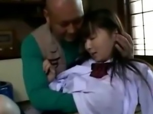 Japanese asian schoolgirl foreplay
