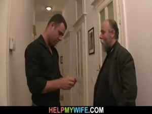 Old man pays him to fuck his young wife free