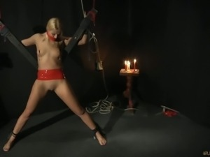Blonde slave for bdsm tricks
