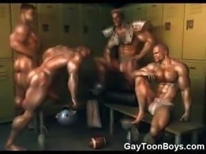 3D Muscled Gays Love Cum!
