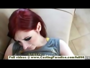 Violet Monroe lovely redhead teen with natural tits fucking and blowjobs on...