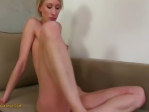 Amateur Blonde Cum On Ass