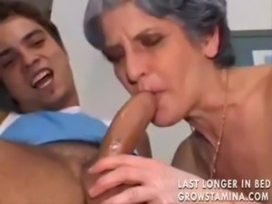 Granny and the young man having anal sex free